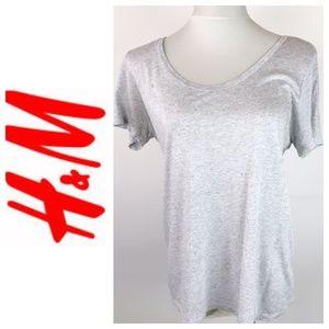 H&M Basics Light Heather Gray T Shirt